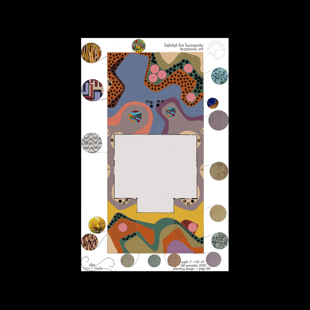 The inspiration for this design came from a narrative, as well as the work  of Roberto Burle Marx and Luis Barragan. This design promotes variety, ...